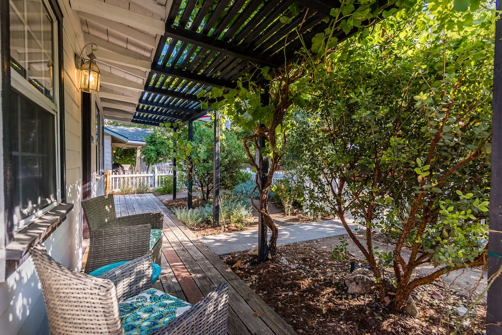 Escape the heat on the shaded front porch.