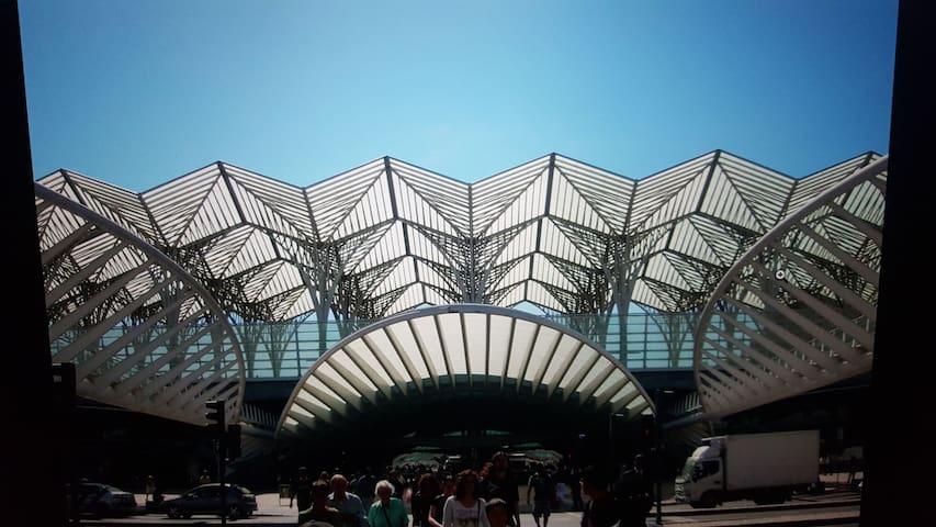 oriente train/bus/tram station  main international transport station in lisbon