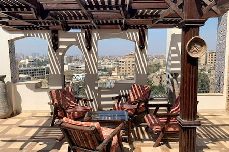 Amazing duplex apartment with Maadi view roof