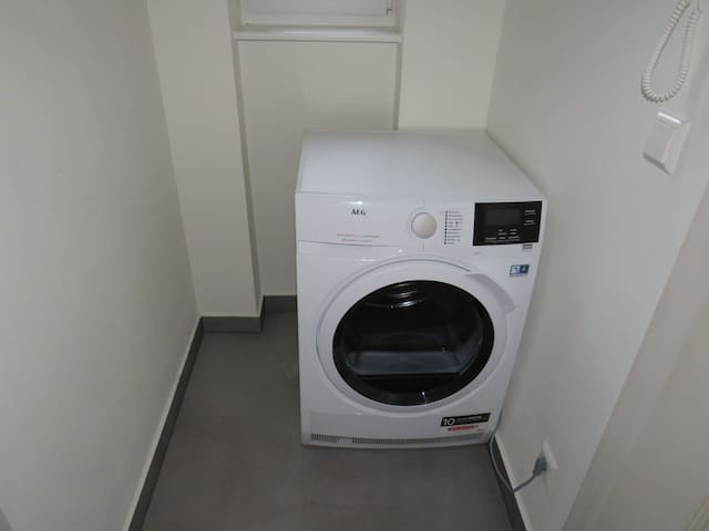 A washing machine and a drying machine are available for you