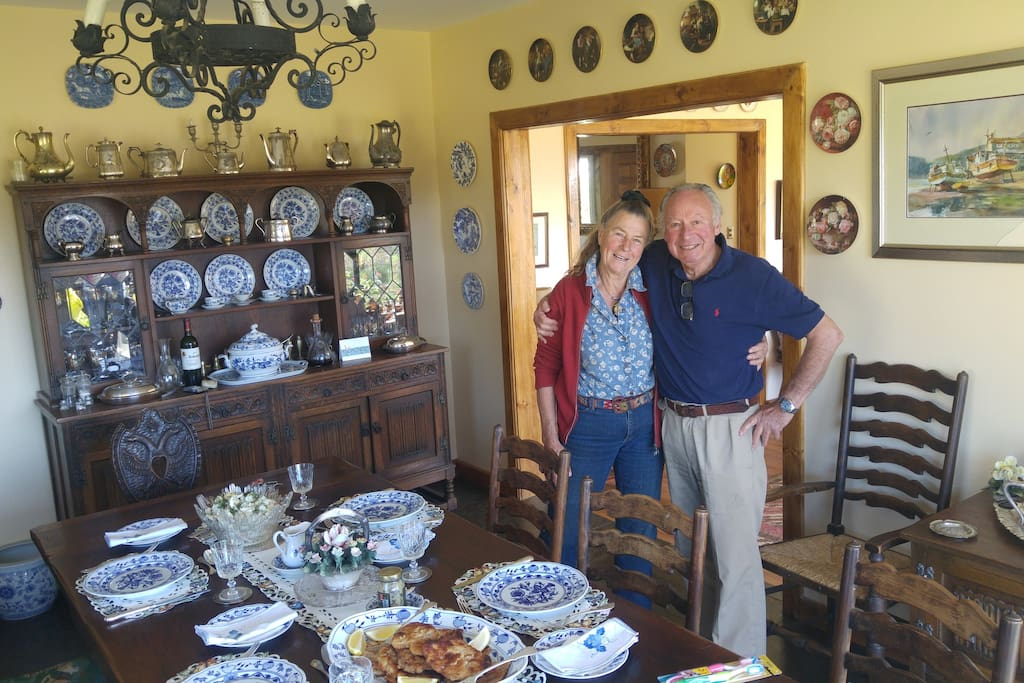 Hosts in the Dining Room