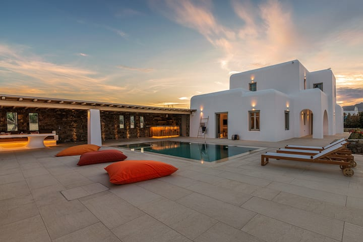 Villa Aloni-private pool-seaview-Mykonos AG Villas