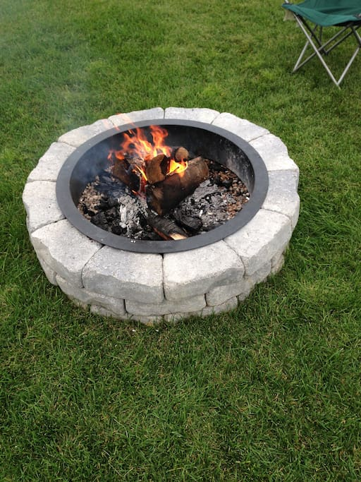 Fire Pit located in front of cottage, firewood supplied