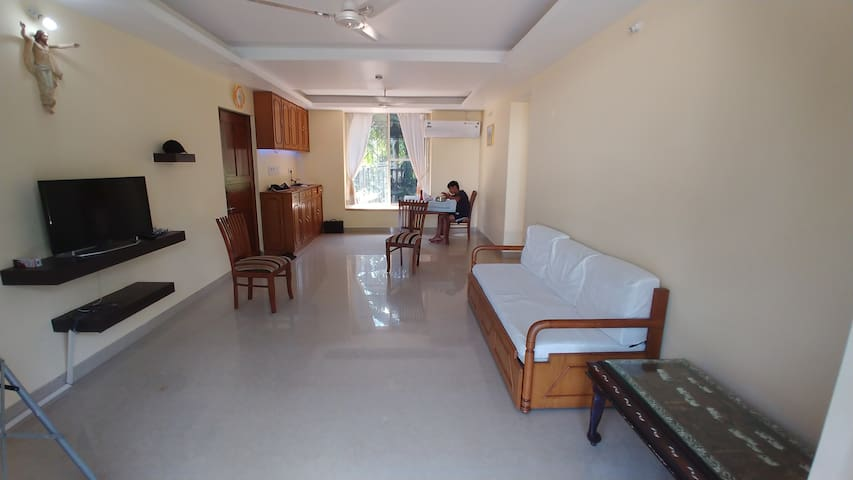 Full AC, two bedroom apartment with big balcony