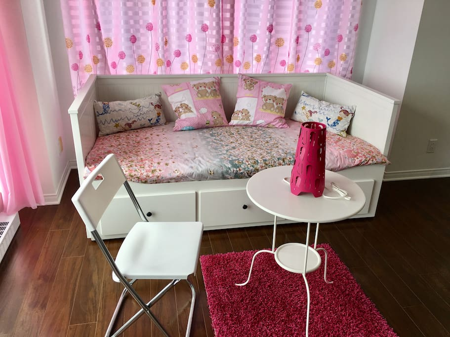Sofa bed in sitting room