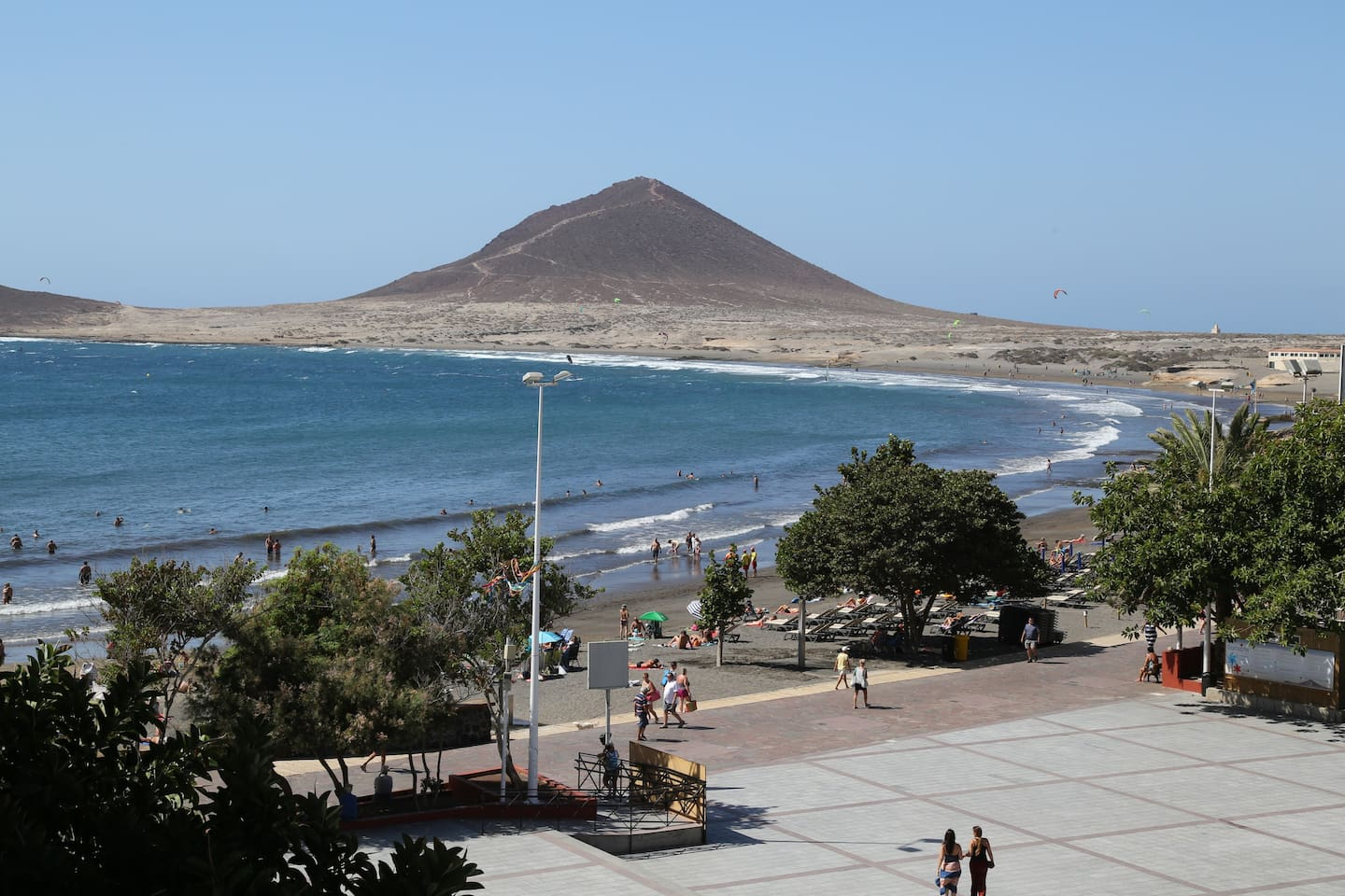 The view from the balcony - the El Médano beach
