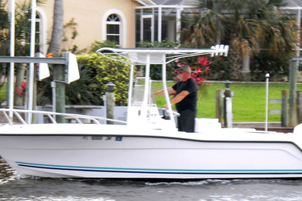24' centre console t-top boat available for an additional nominal fee