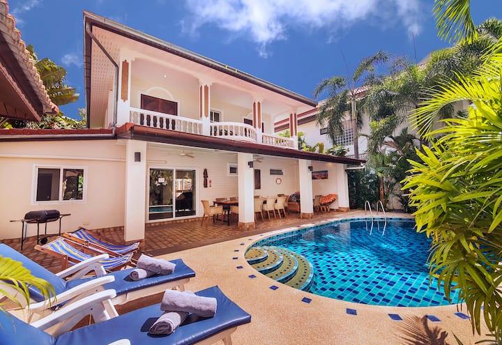 Luxury★★★★★ Villa,  5 minutes Beach/Walking street