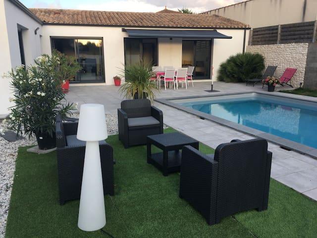 Jolie villa avec piscine La Rochelle/Ile de Ré