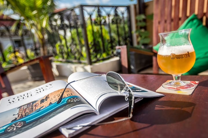 Relax on sundeck with a beer!