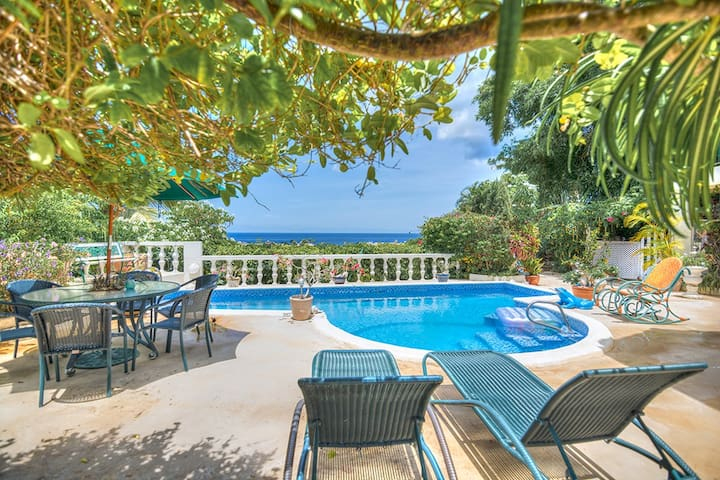 Barbados private suite with pool