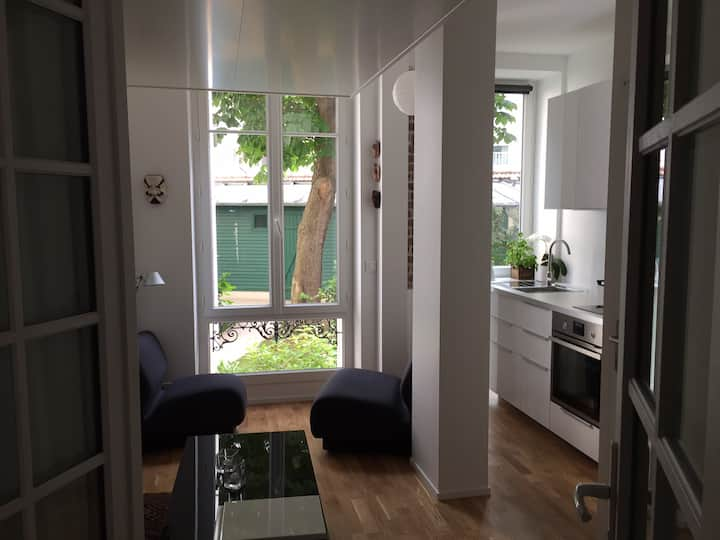 Bail mobilité/Studio sur jardin près Champ-de-Mars