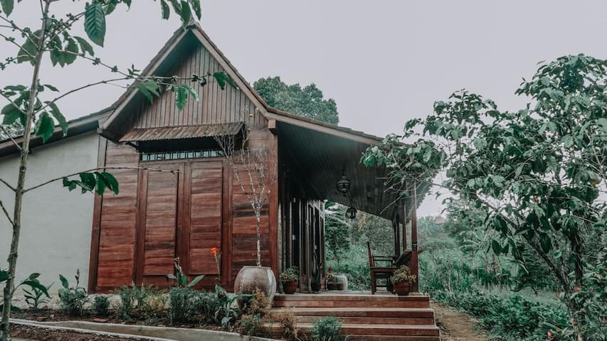 Wooden House in a Farm Land of Munduk