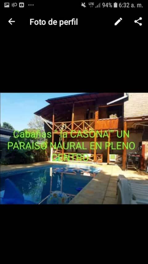 "PARAISO NATURAL. Cabañas ""LA CASONA """
