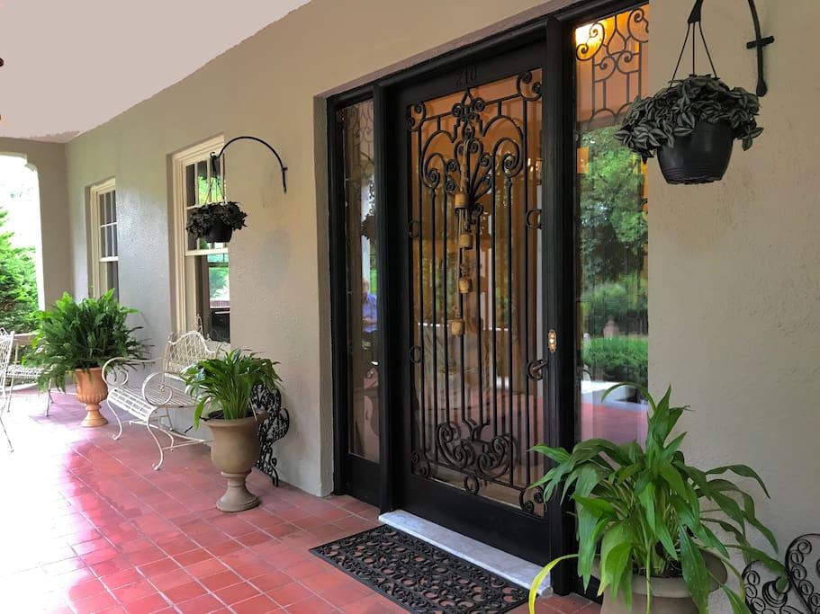veranda for reading or conversation