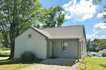 Lots of free, safe parking behind the house and an easy level entrance in from the back patio!