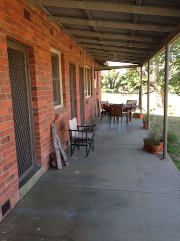 Shearing Quarters on idyllic beef cattle farm