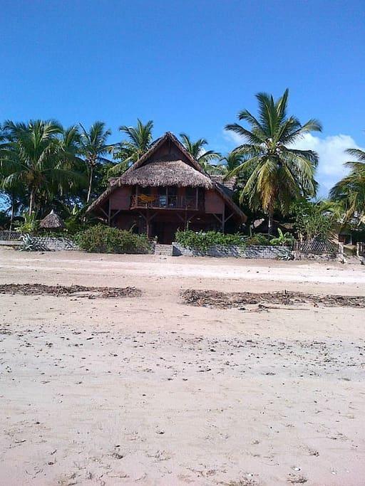 Villa de face à marée basse