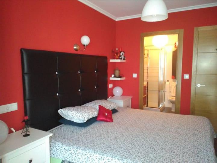 Habitación con baño, tv y wifi
