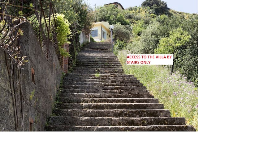 access only by steps!