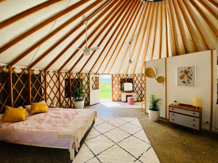 Byron Bay Hinterland Luxury Ivory Yurt