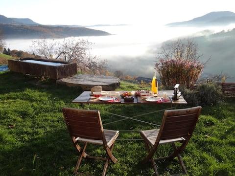 Naravni prostor med vinogradom in goro
