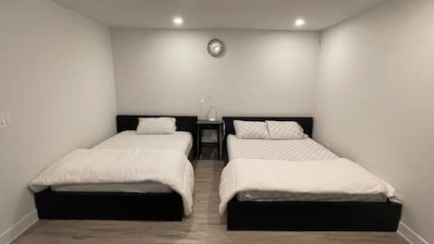 Two Beds Basement With Full Washroom - New House
