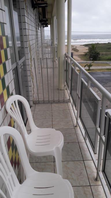 varanda dos quartos