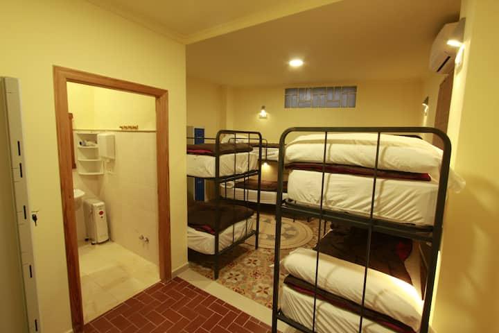 habitación para grupos de amigos y familias