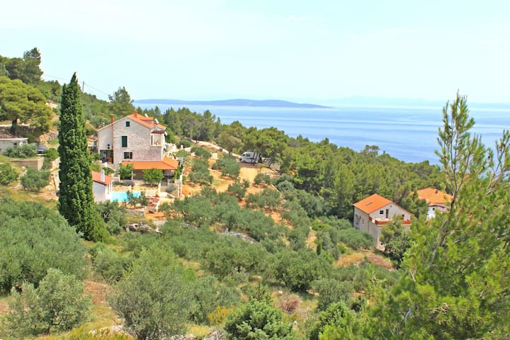 Spectacular view villa with pool - Sveta Nedilja - Villa