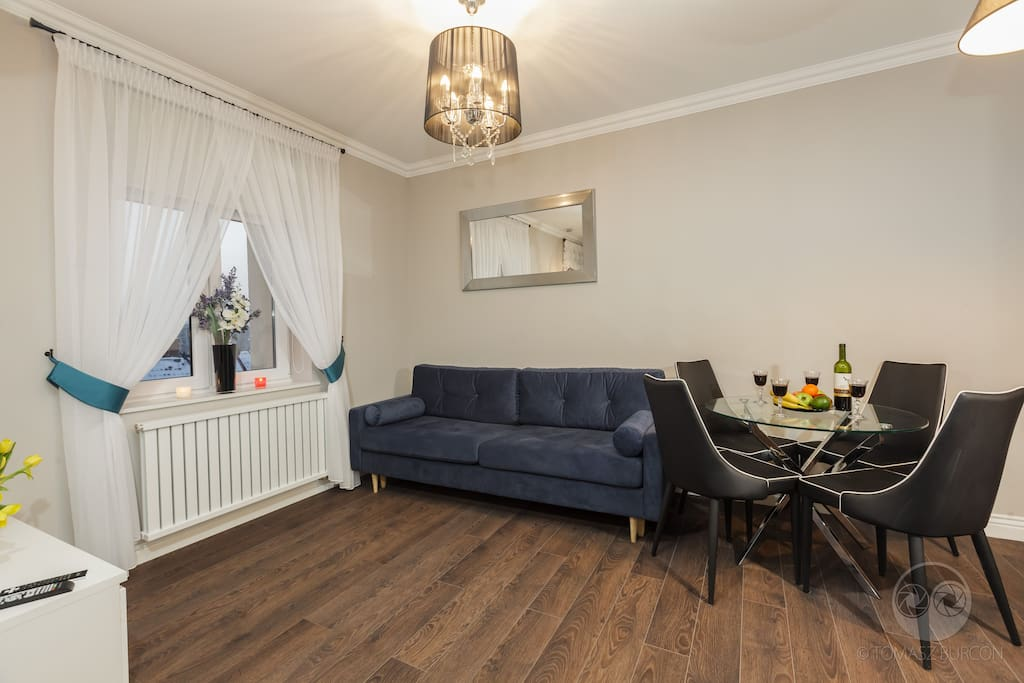Apartament Nowojorski - salon