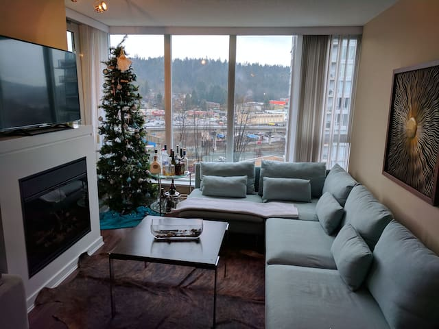 Beautiful 2 bed 2 Bath, View, Parking, Super Clean - Port Moody - Apartamento