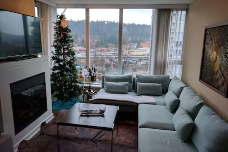 Beautiful 2 bed 2 Bath, View, Parking, Super Clean - Port Moody - Byt