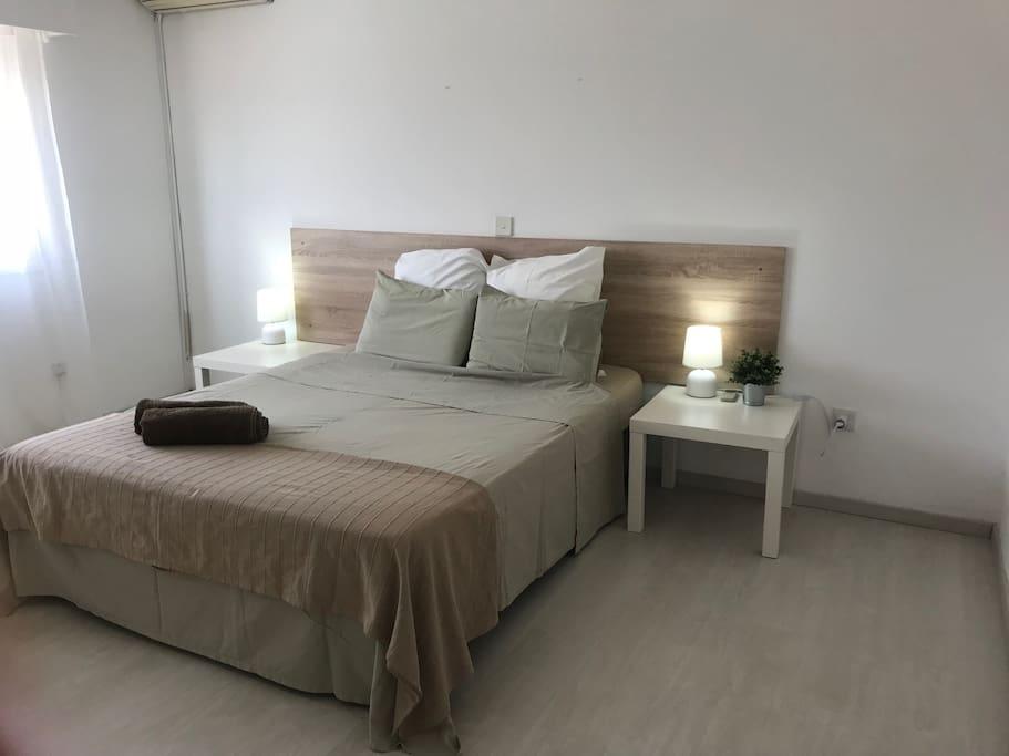 Master bedroom with ensuite shower