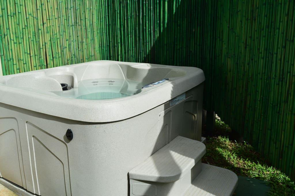 Private stargazing hot tub spa