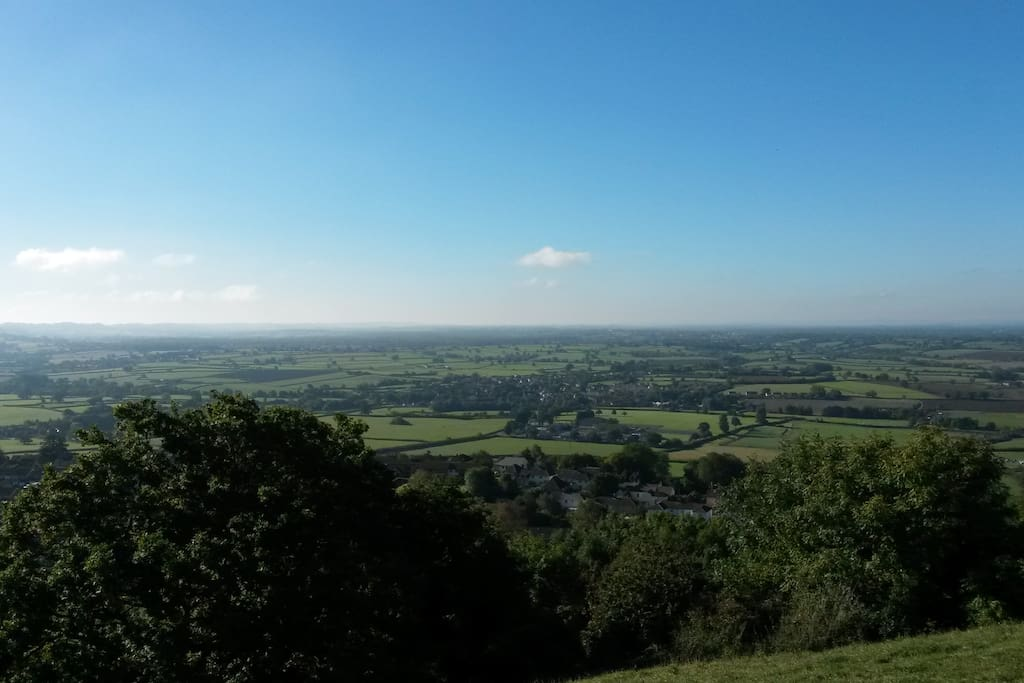 The view from Wotton Hill, a 15 minute walk from our house.
