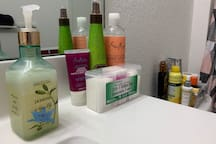 Personal products provided in the bathroom