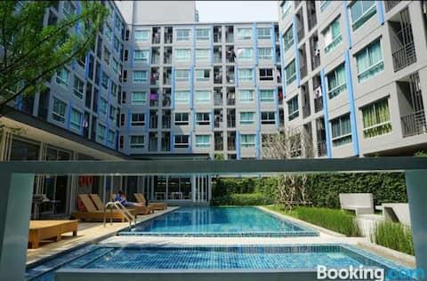 The kith Plus/Free wifi ,Pool,Gym/Near BTS Samrong