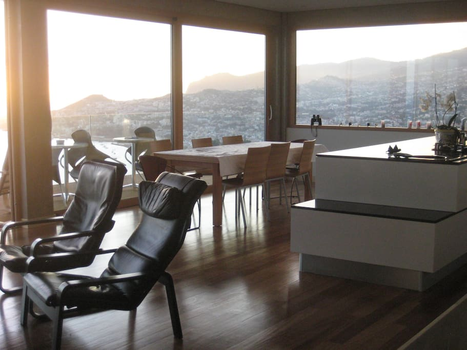 Spectacular view from the kitchen and  upstairs living room.