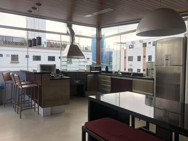 Duplex Apartment Guaruja Asturias with jacuzzi