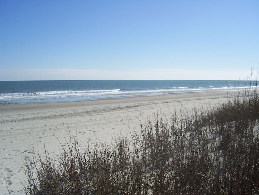 The Beautiful Grand Strand in front of our The Anchorage.