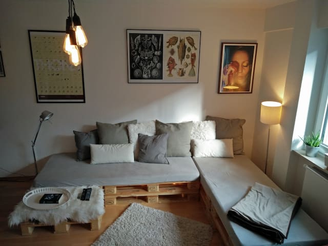 comfartable & cozy room Berger Straße downtown - Frankfurt am Main - Leilighet