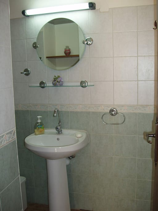 private wc and shower