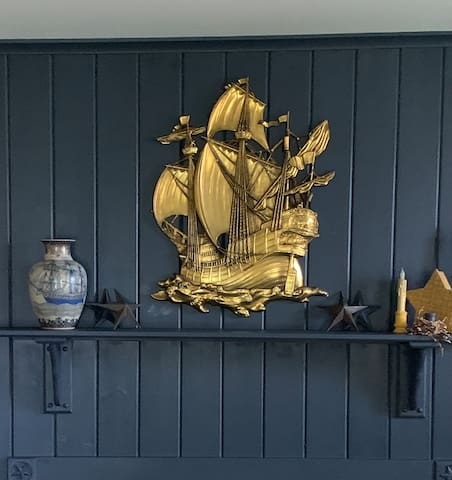 Mantel in Admiral's Quarters