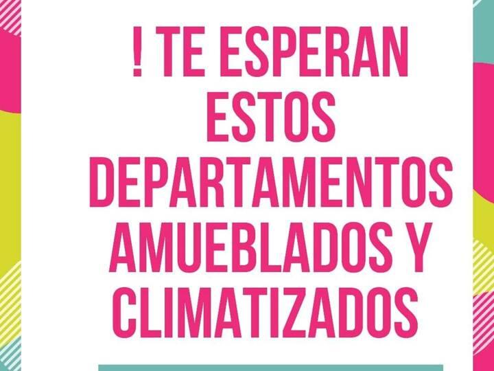 Departamento amueblado climatizado con servicios