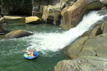 El Yunque Waterfalls, forest  & river house
