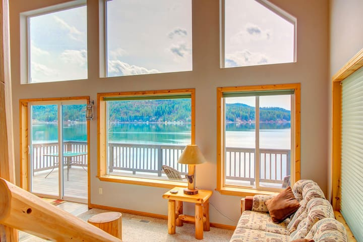 Contemporary lakefront home w/ amazing lake views & private dock!