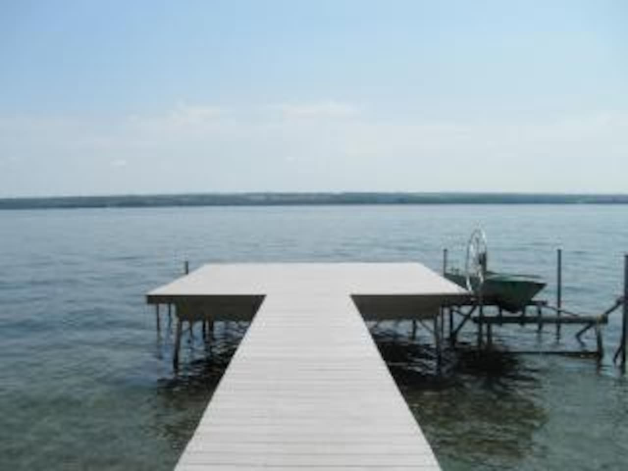 Relax on our 16 by 16 dock 'deck'