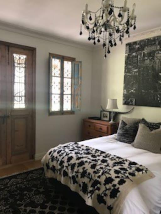 Bedroom 'Madeline' french doors to outside verandah