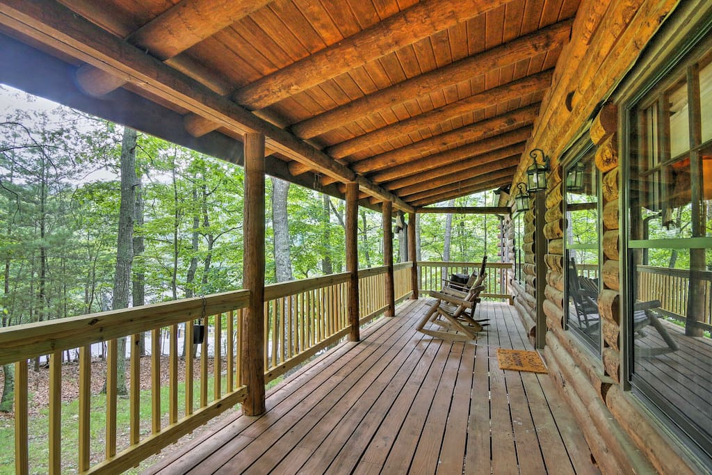 Sit on the spacious deck and enjoy the sounds of nature while reading a book.